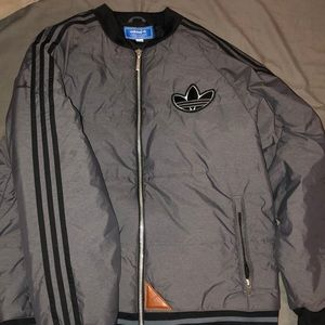 Adidas mens varsity coat sz large